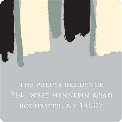 Painterly Stripes Graduation Address Labels