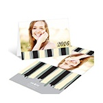 Painterly Stripes -- Graduation Thank You Cards
