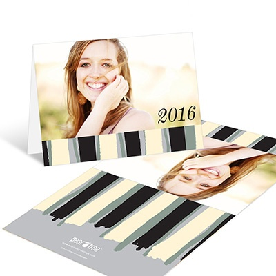 Painterly Stripes Graduation Thank You Cards
