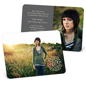 Soft Swirls -- Graduation Announcements