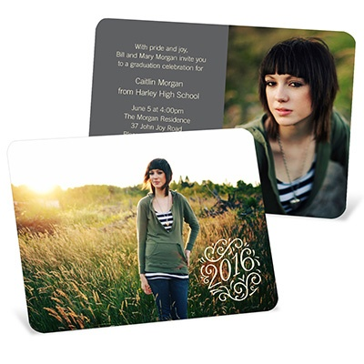 Soft Swirls Graduation Announcements