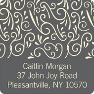 Soft Swirls Graduation Address Labels