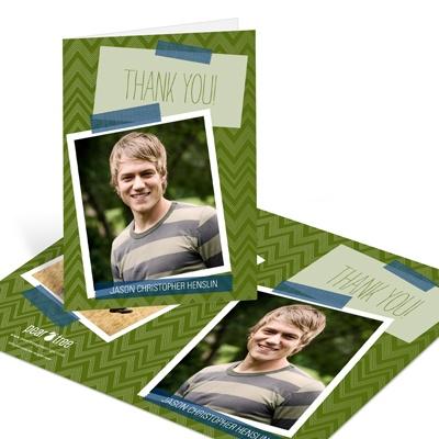 Chevron Memories Graduation Thank You Cards