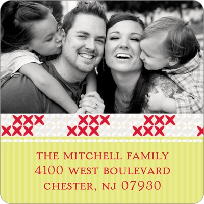 Stitched with Joy -- Personalized Photo Address Labels