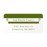 Festive Border -- Family Address Labels