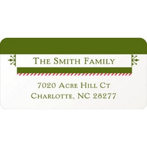 Festive Border -- Christmas Address Labels