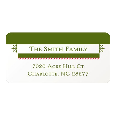 Festive Border Christmas Address Labels