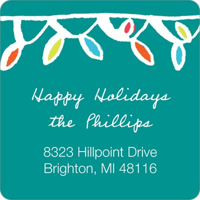 Festive Lights -- Holiday Return Address Labels