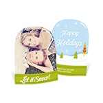 Peek into Wonderland -- Snow Globe Christmas Cards