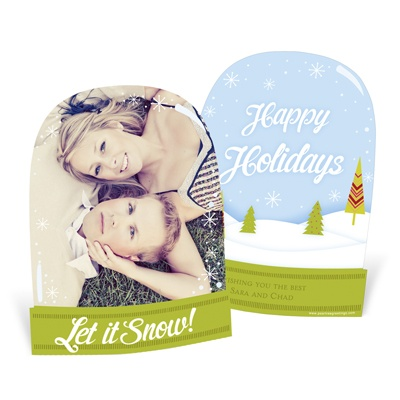 Peek Into Wonderland -- Unique Holiday Photo Cards