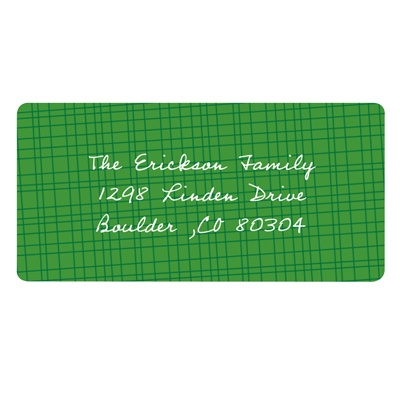 Textured Background Christmas Address Labels