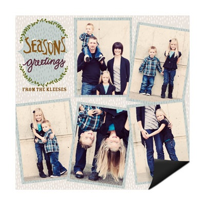 Falling Flakes Magnet Holiday Photo Cards