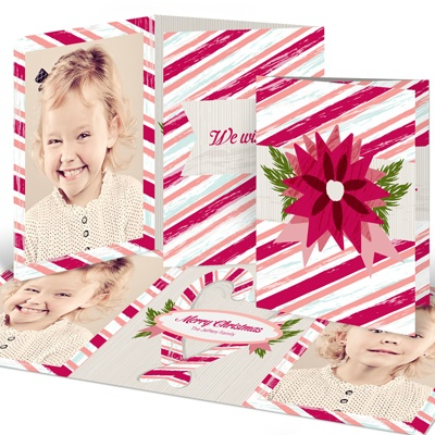 Classic Candy Canes Holiday Photo Cards