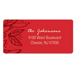 Fresh Poinsettia -- Christmas Address Labels