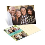 Stamped for the Season Horizontal Photo -- Custom Christmas Postcards
