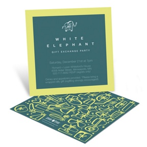 White Elephant -- Holiday Party Invitations