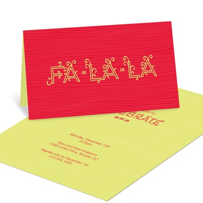 Sing and Celebrate Holiday Party Invitations