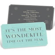 Ticket to Wonderland Holiday Party Invitations