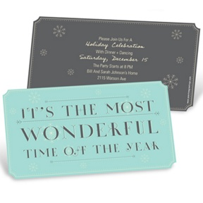 Ticket to Wonderland -- Holiday Party Invitations