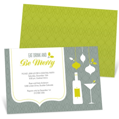 Season's Best Cheers Holiday Party Invitations