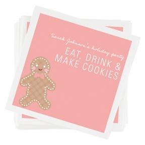 Gingerbread Joy Napkins -- Party Decorations