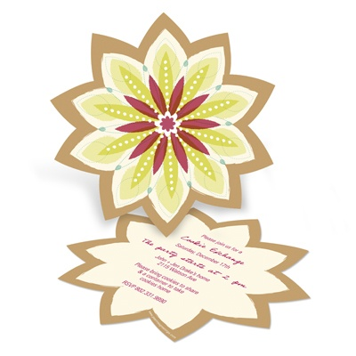 Sweet Starburst -- Christmas Cookie Exchange Party Invitations