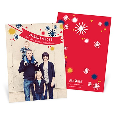 Cheers to the Year -- New Years Greetings Cards