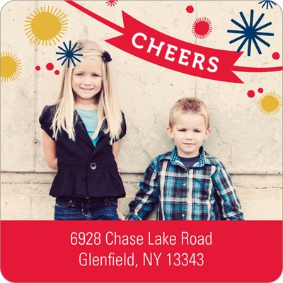 Cheers to the Year Holiday Address Labels