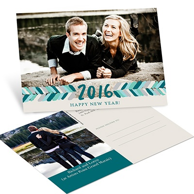 Artistic Arrows Horizontal Photo New Years Postcards