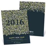 Pop The Bubbly New Year's Cards