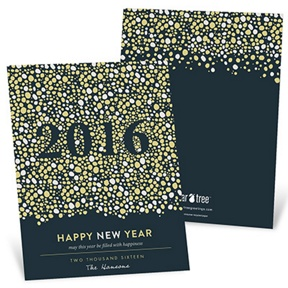 Pop The Bubbly -- New Year's Cards