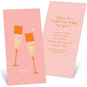 Sparkling Toasts -- Holiday Party Invitations