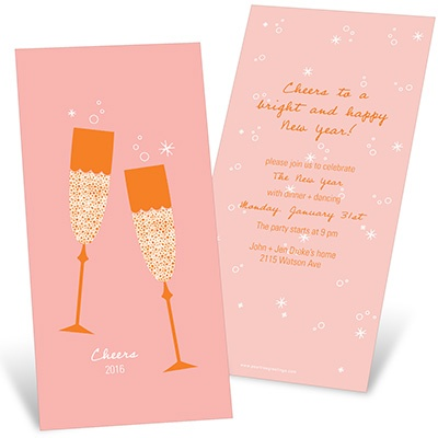 Sparkling Toasts Holiday Party Invitations