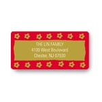 Flower Stamped -- Personalized Address Labels