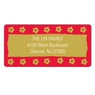 Flower Stamped Personalized Address Labels