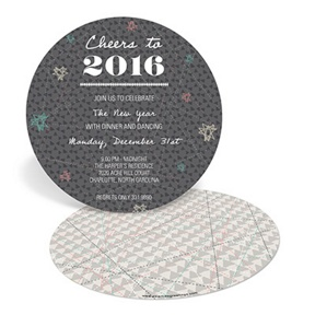 Shaped to Celebrate -- Holiday Party Invitations