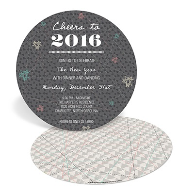 Shaped to Celebrate -- New Years Eve Party Invitations