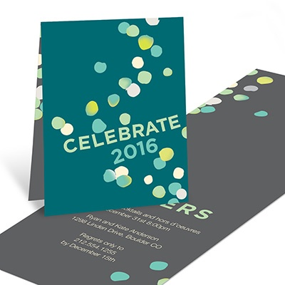 Captured Confetti Holiday Party Invitations