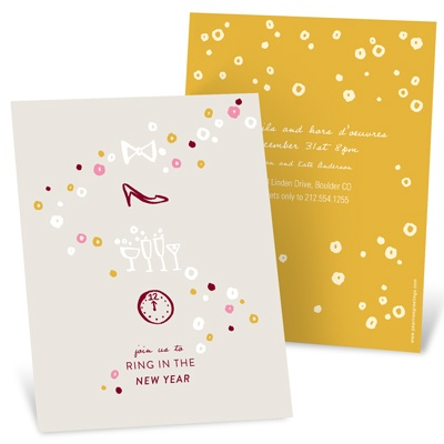 Heels and Happy Toasts Holiday Party Invitations