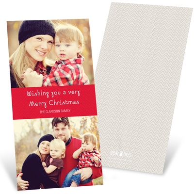 Chevron Cheer -- Personalized Holiday Cards
