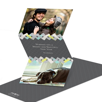 Seasonal Swatches New Year's Photo Cards