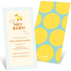 Retro Rubber Duck Toy -- Baby Shower Invitations