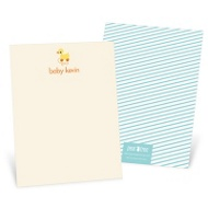 Retro Rubber Duck Toy Baby Shower Thank You Cards