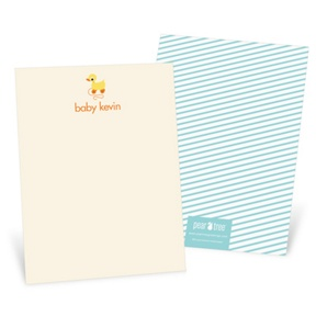 Retro Rubber Duck Toy -- Baby Shower Thank You Cards