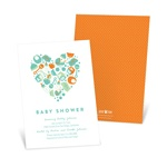 Essential Baby Items From The Heart -- Custom Baby Shower Invitations