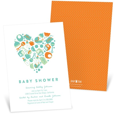 Essential Baby Items Baby Shower Invitations