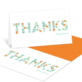 Essential Baby Items -- Baby Shower Thank You Cards