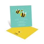 Buzzing in Baby Love -- Bumble Bee Baby Shower Invitations