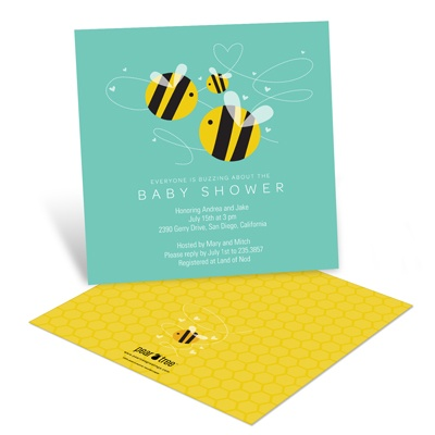 Buzzing in Baby Love Baby Shower Invitations