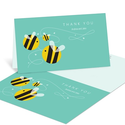 Buzzing with Appreciation -- Baby Shower Thank You Cards